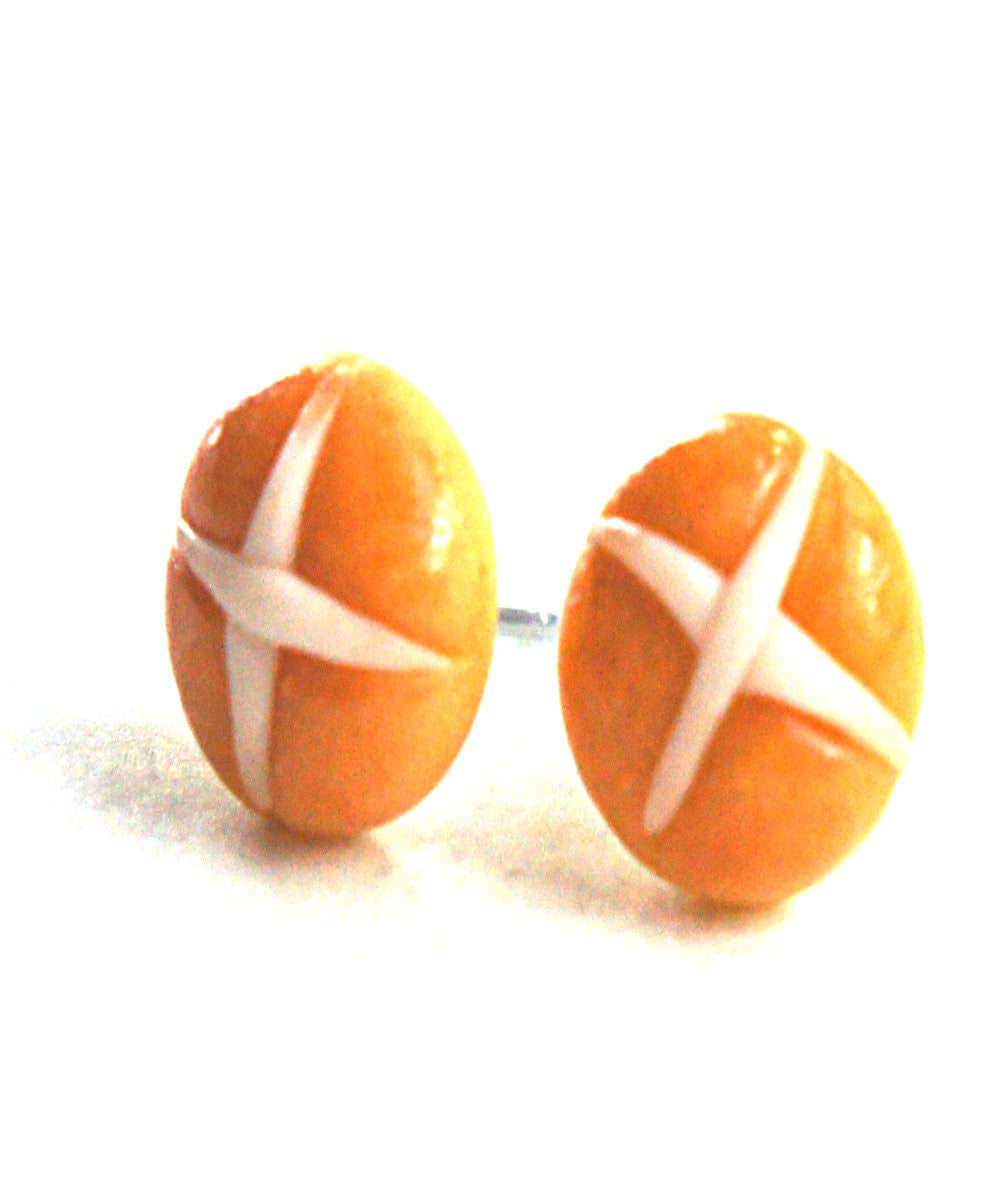 Hot Cross Buns Stud Earrings - Jillicious charms and accessories - 3