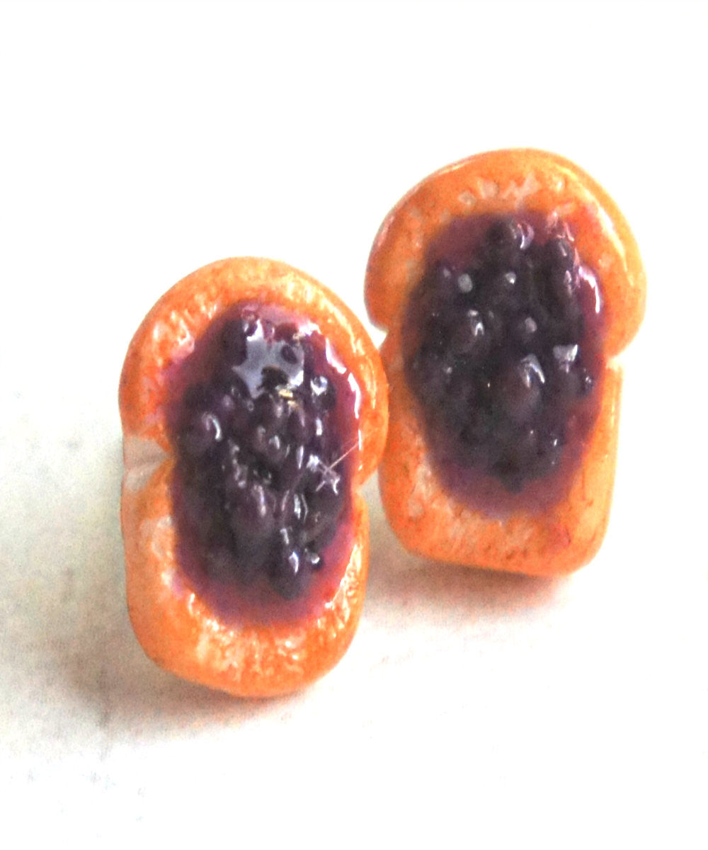 Jelly Bread Toast Stud Earrings - Jillicious charms and accessories