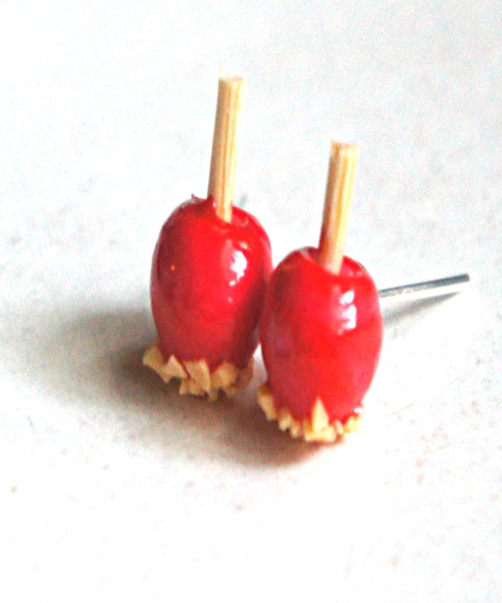 Candy Apple Stud Earrings - Jillicious charms and accessories