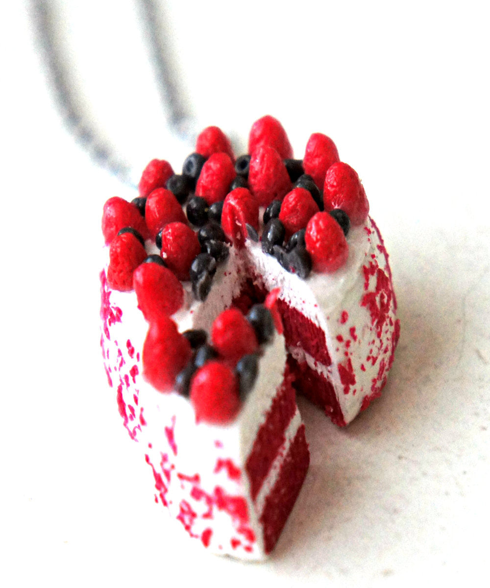 Red Velvet Cake Necklace - Jillicious charms and accessories