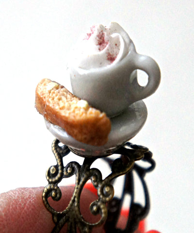 Biscotti and Hot Chocolate Ring - Jillicious charms and accessories