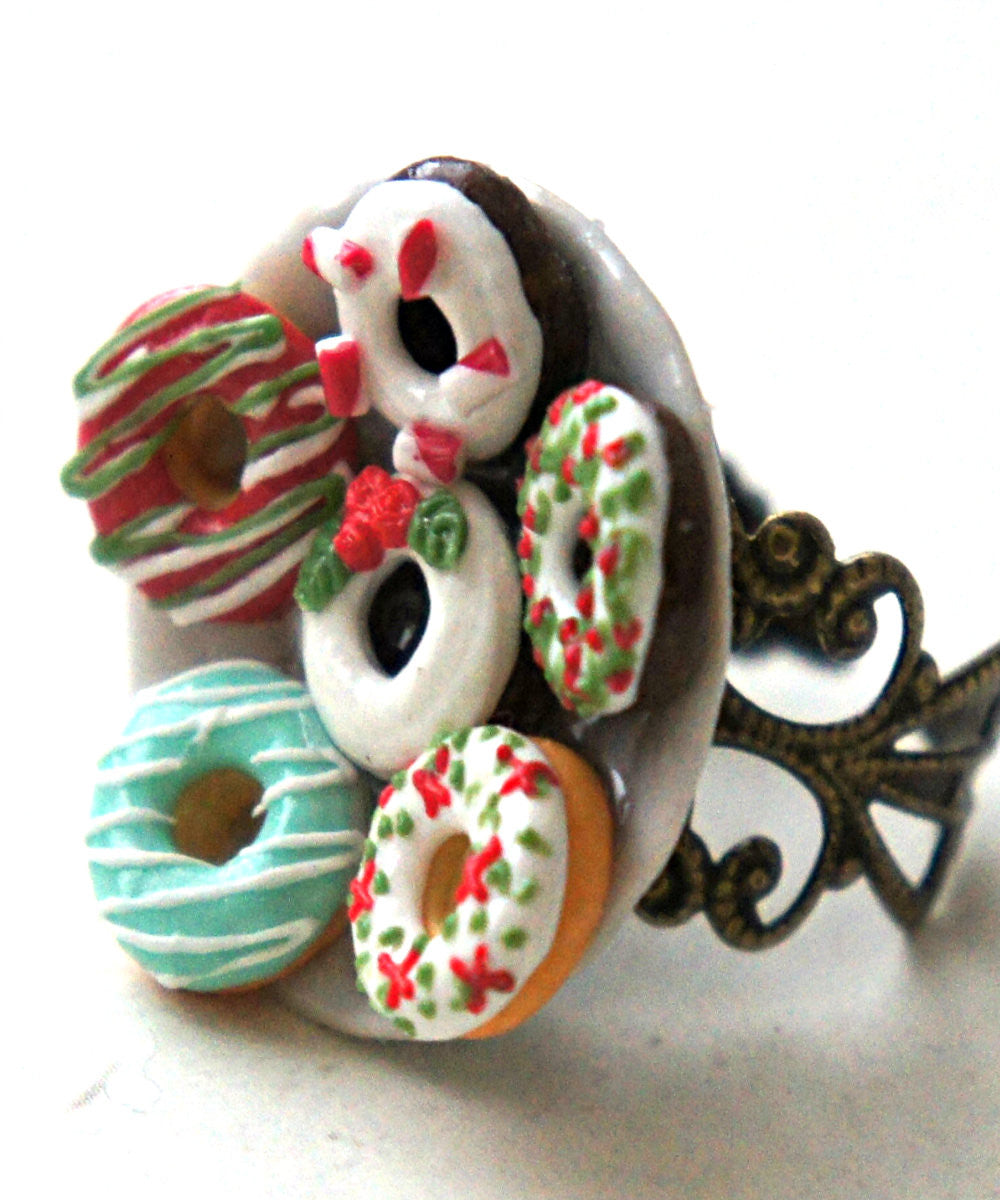 Christmas Donuts Ring - Jillicious charms and accessories