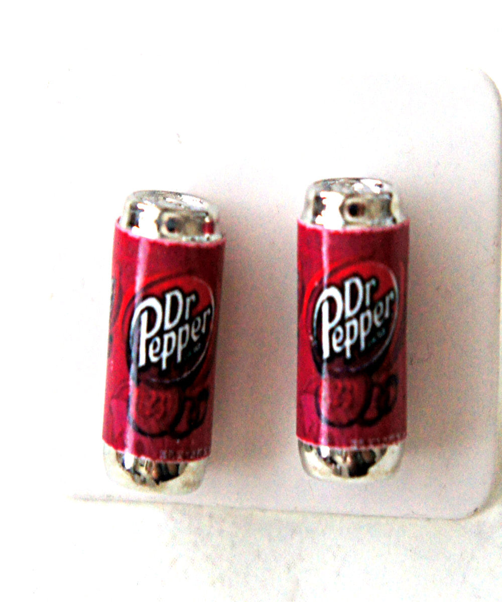 Dr. Pepper soda can earrings