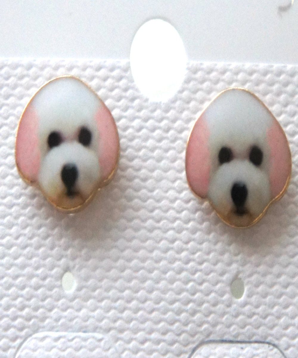 Toy Poodle Stud Earrings - Jillicious charms and accessories