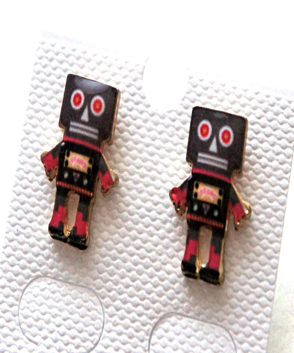 Robot Stud Earrings - Jillicious charms and accessories