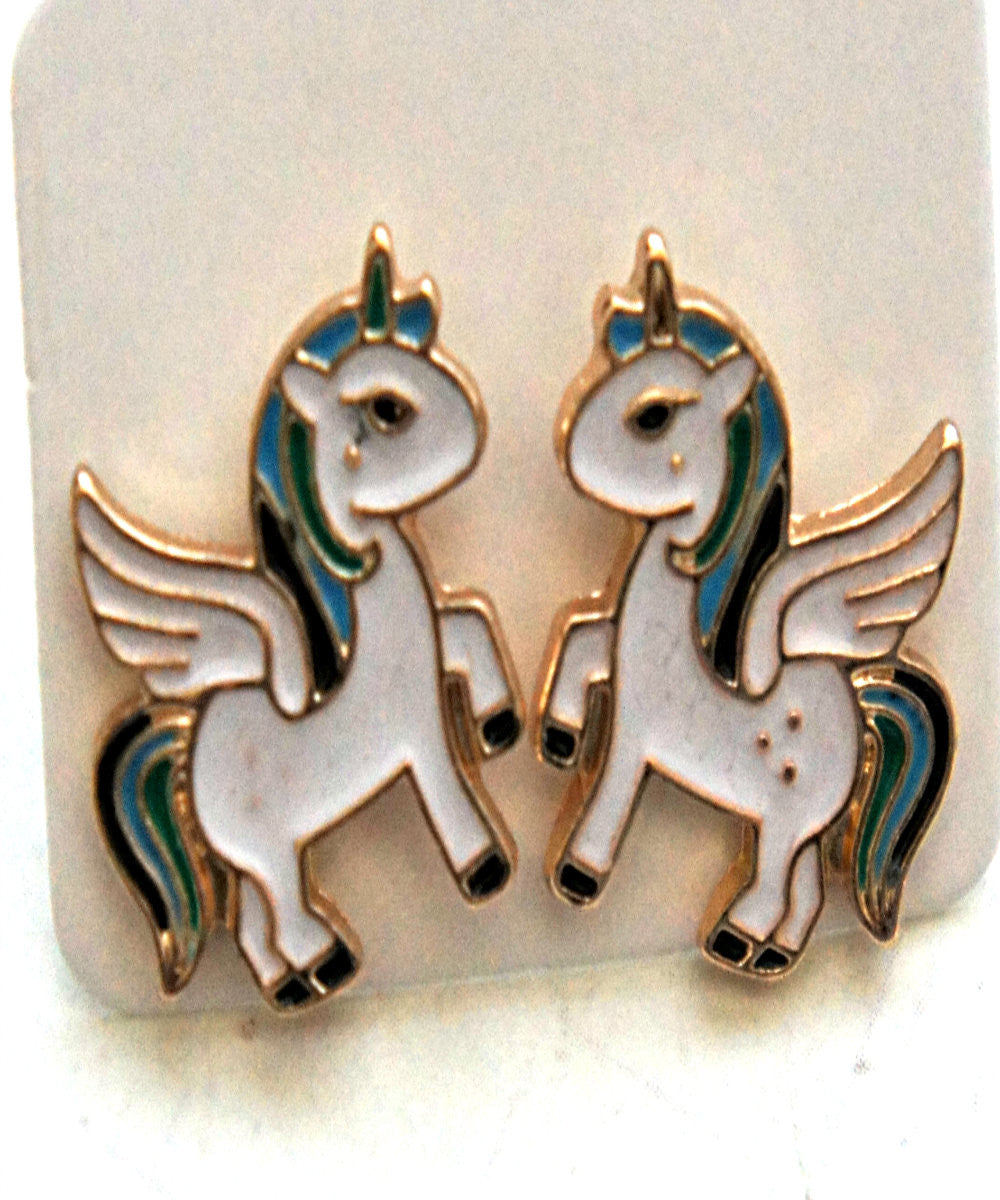 Unicorn Stud Earrings - Jillicious charms and accessories