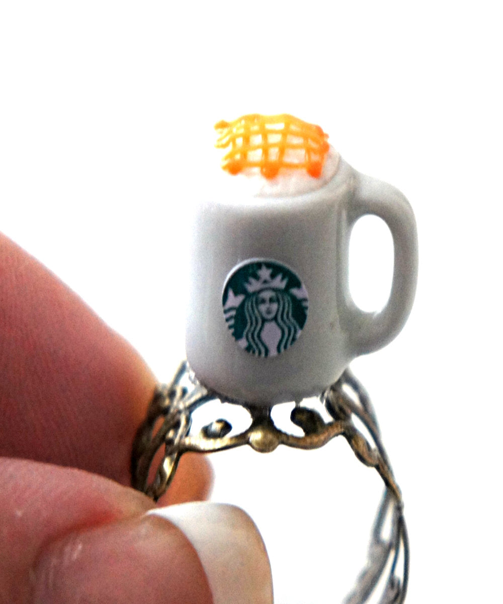Starbucks Caramel Macchiato Ring - Jillicious charms and accessories