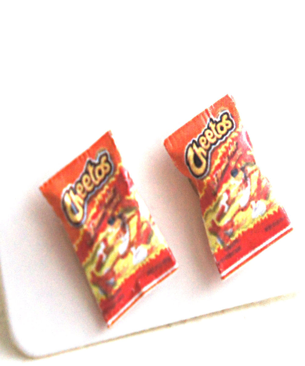 Hot Cheetos Stud Earrings - Jillicious charms and accessories