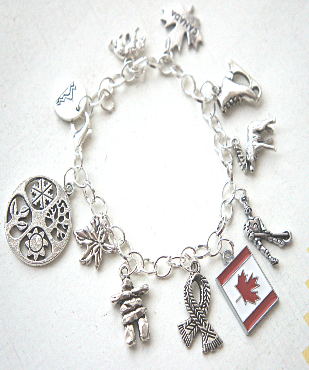 Canada Inspired Charm Bracelet - Jillicious charms and accessories