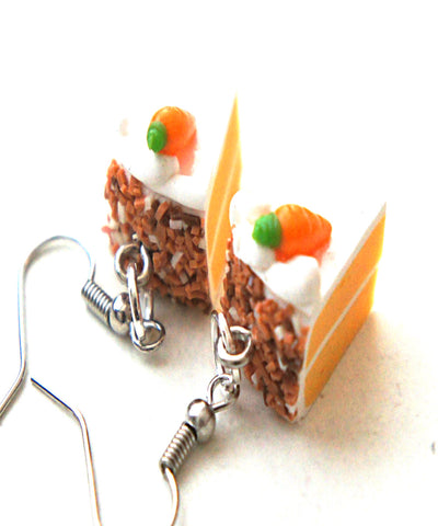 Carrot Cake Dangle Earrings - Jillicious charms and accessories