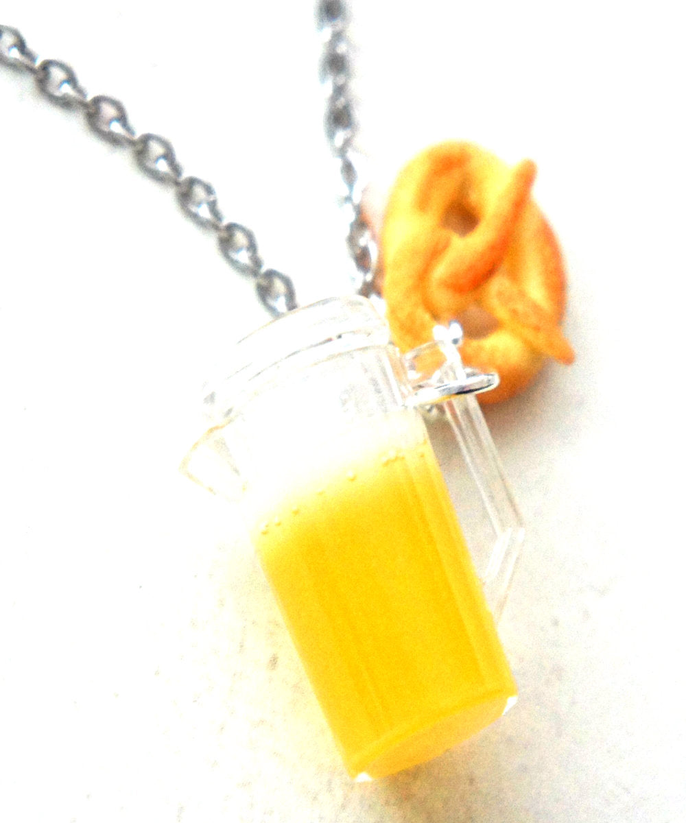 Pretzel and Beer Necklace - Jillicious charms and accessories
