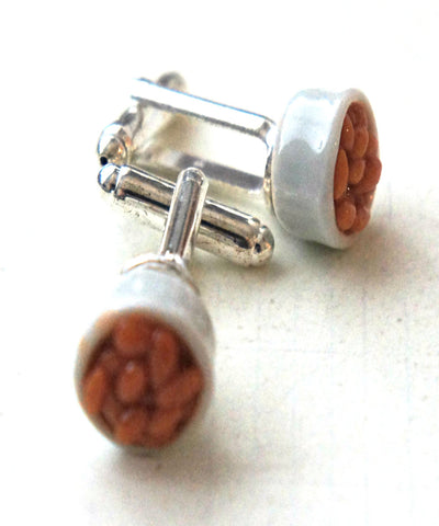 Baked Beans Cuff Links - Jillicious charms and accessories