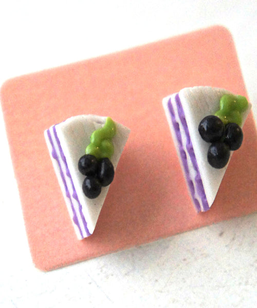 Blueberry Cake Stud Earrings - Jillicious charms and accessories