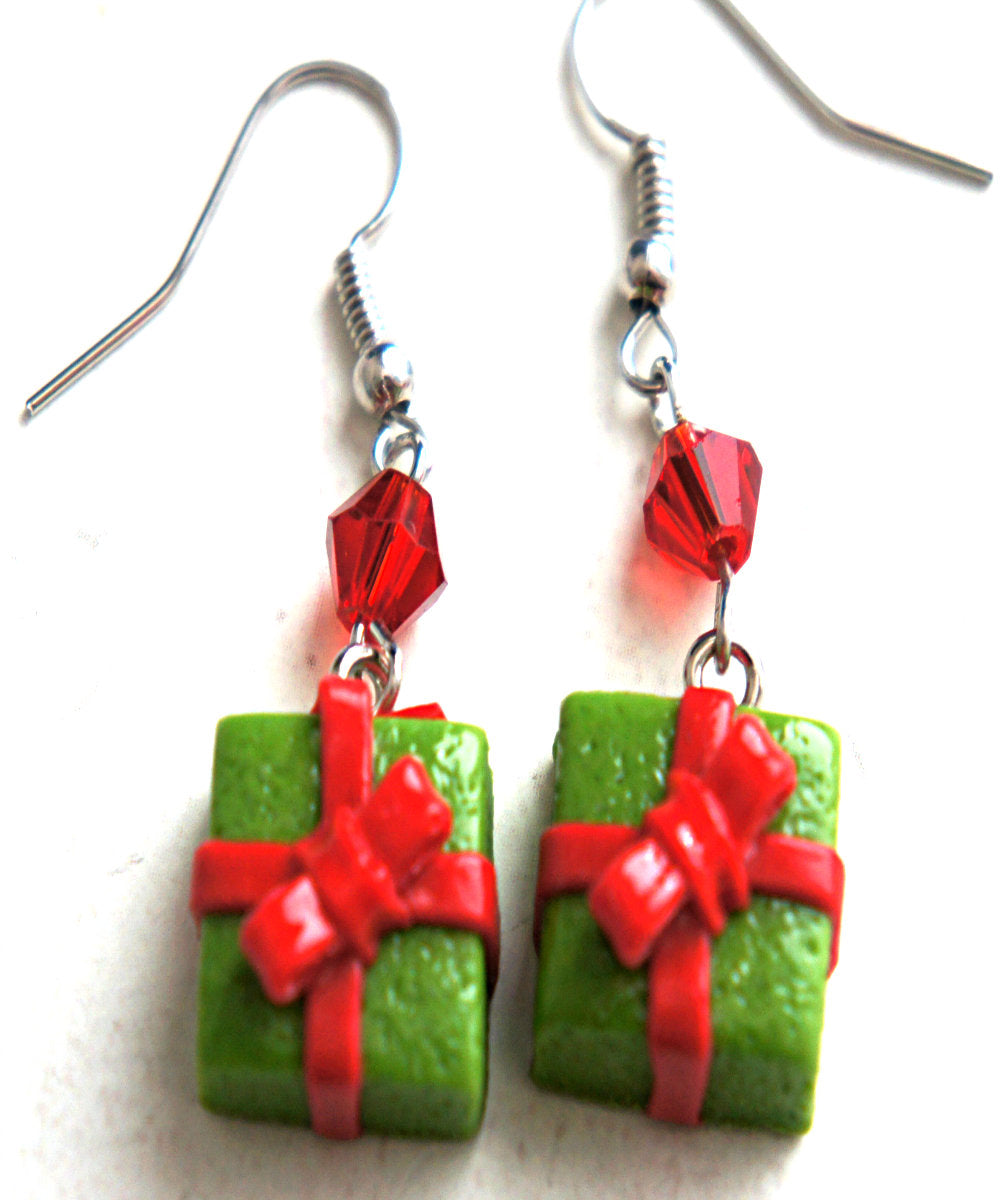 Christmas Present Dangle Earrings - Jillicious charms and accessories
