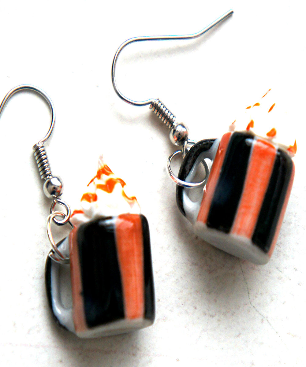 Pumpkin Spice Latte Earrings - Jillicious charms and accessories