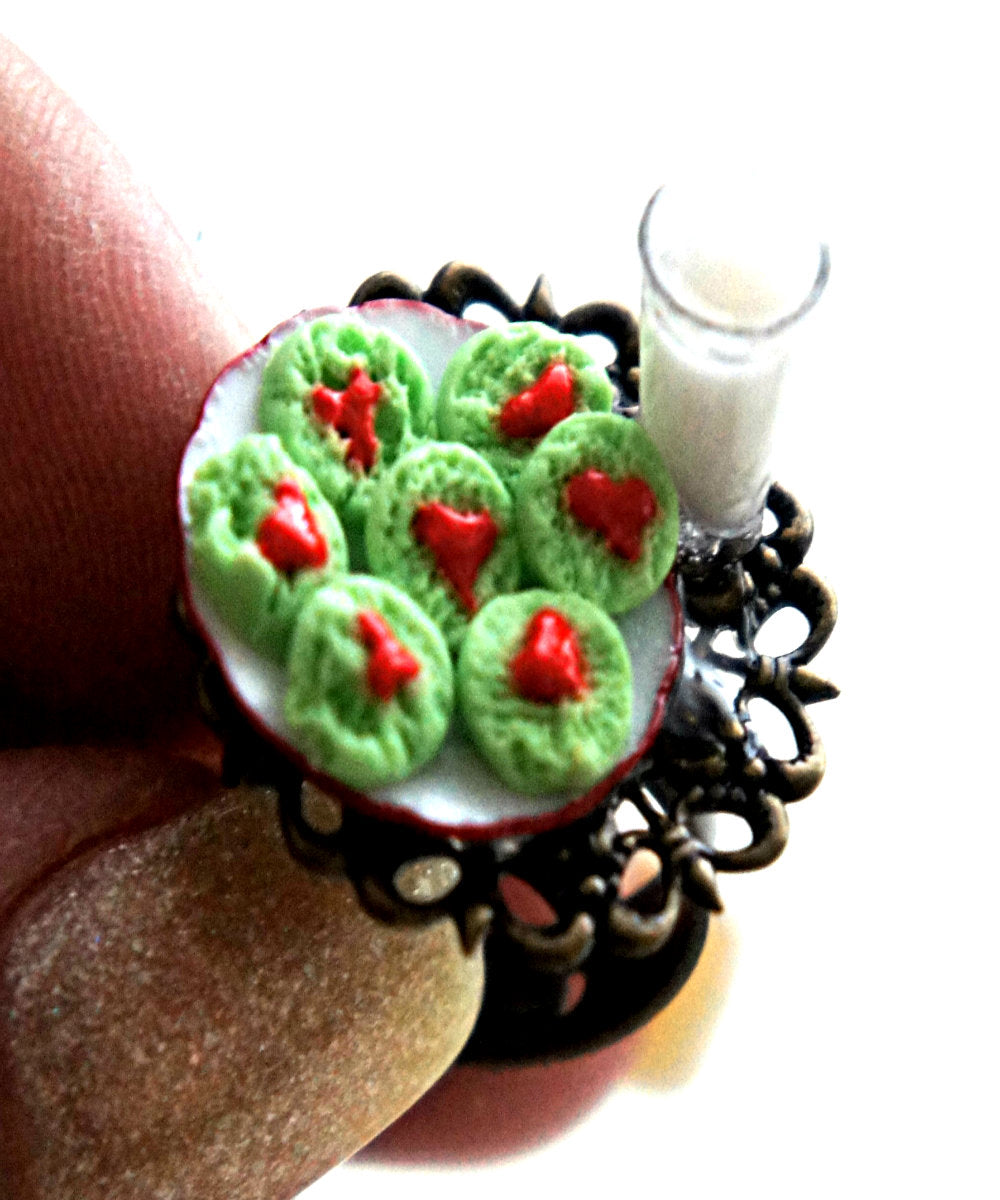 The Grinch Cookies and Milk Ring - Jillicious charms and accessories