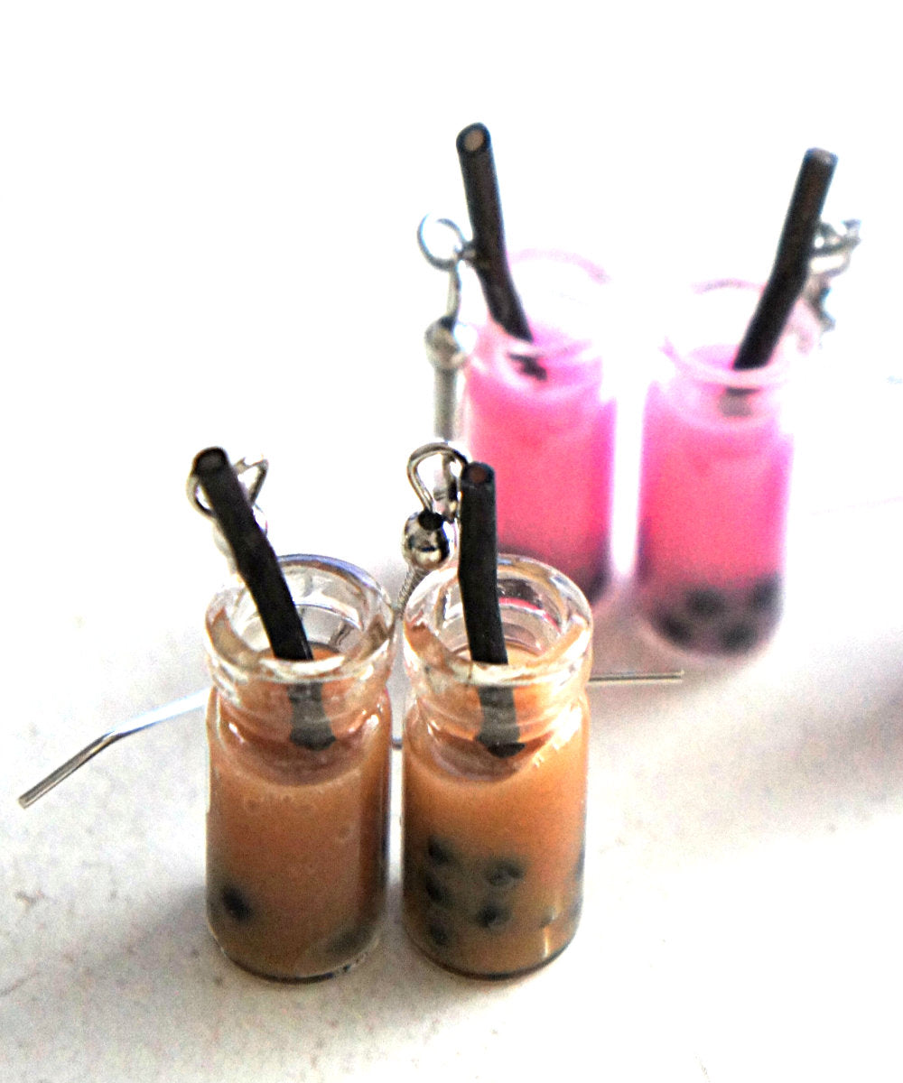 Bubble Tea Dangle Earrings - Jillicious charms and accessories
