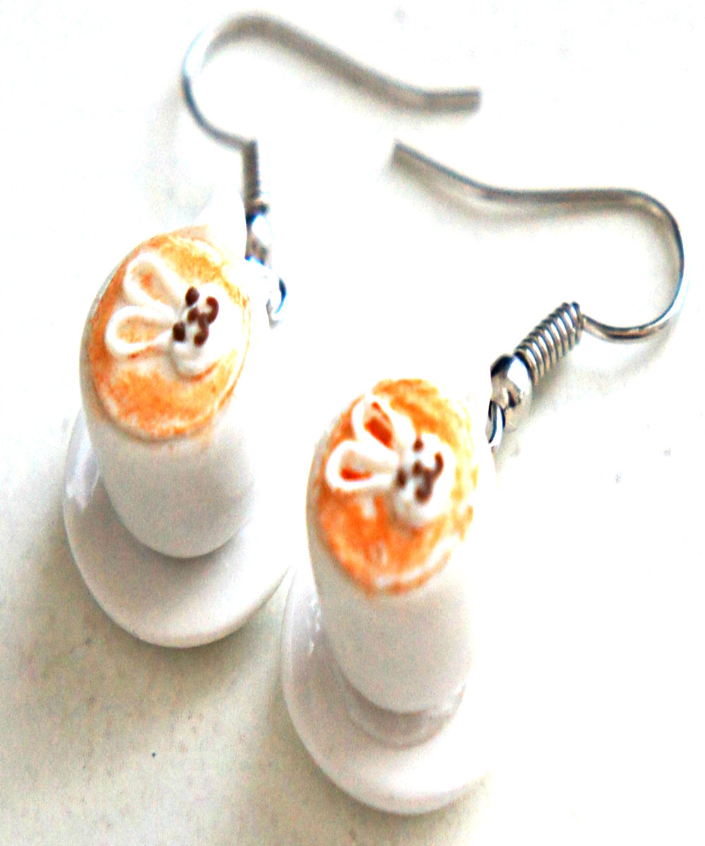 Cute Bunny Latte Dangle Earrings - Jillicious charms and accessories