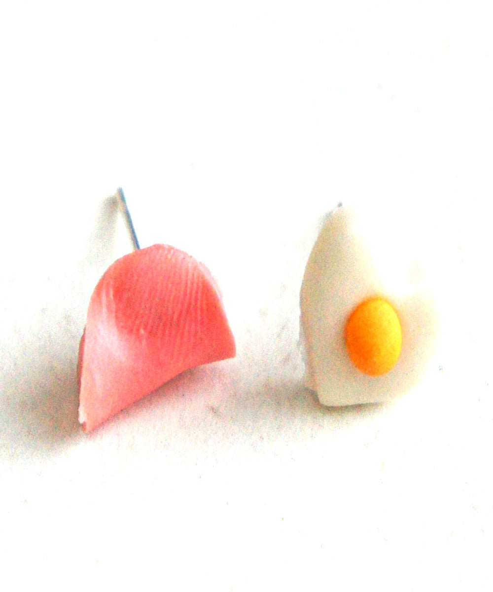 Ham and Egg Stud Earrings - Jillicious charms and accessories