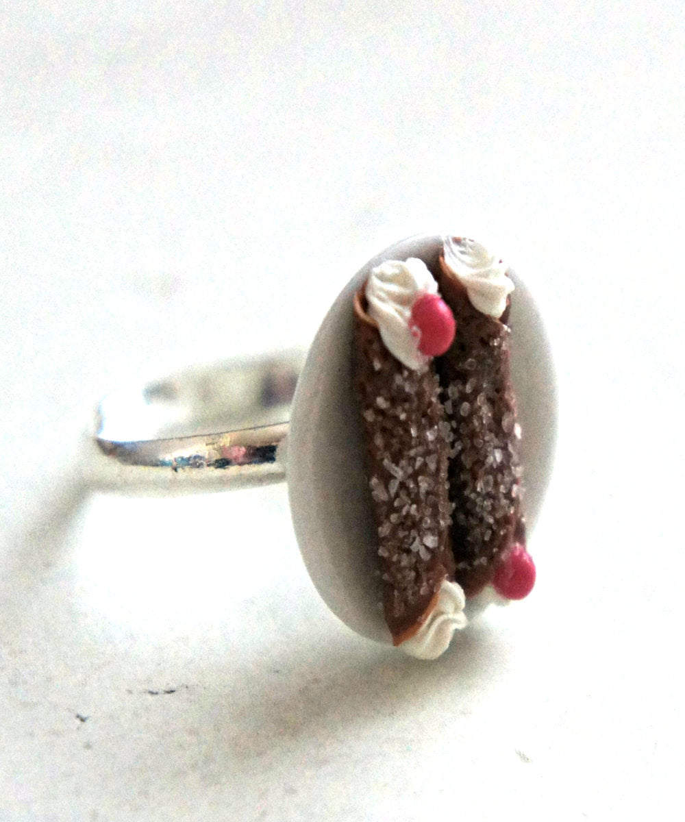 Chocolate Cannoli Ring - Jillicious charms and accessories