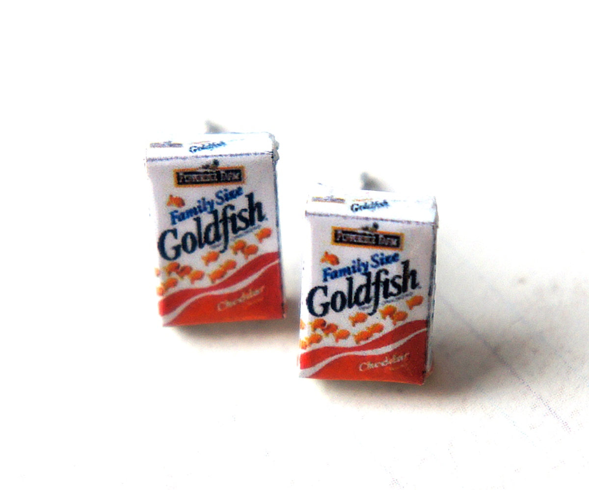 Goldfish Crackers Box Earrings - Jillicious charms and accessories