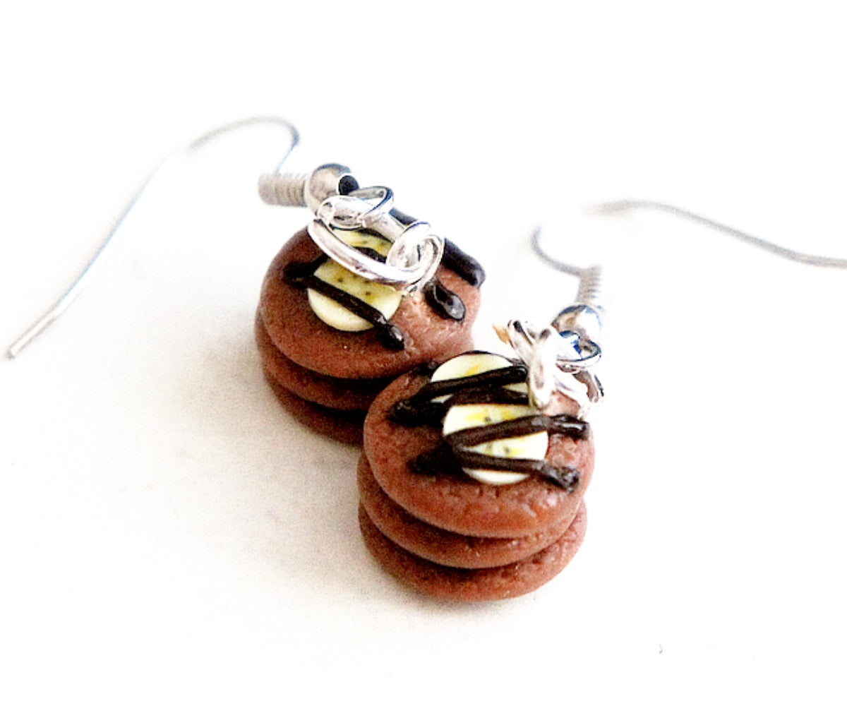 Nutella Banana Pancakes Dangle Earrings