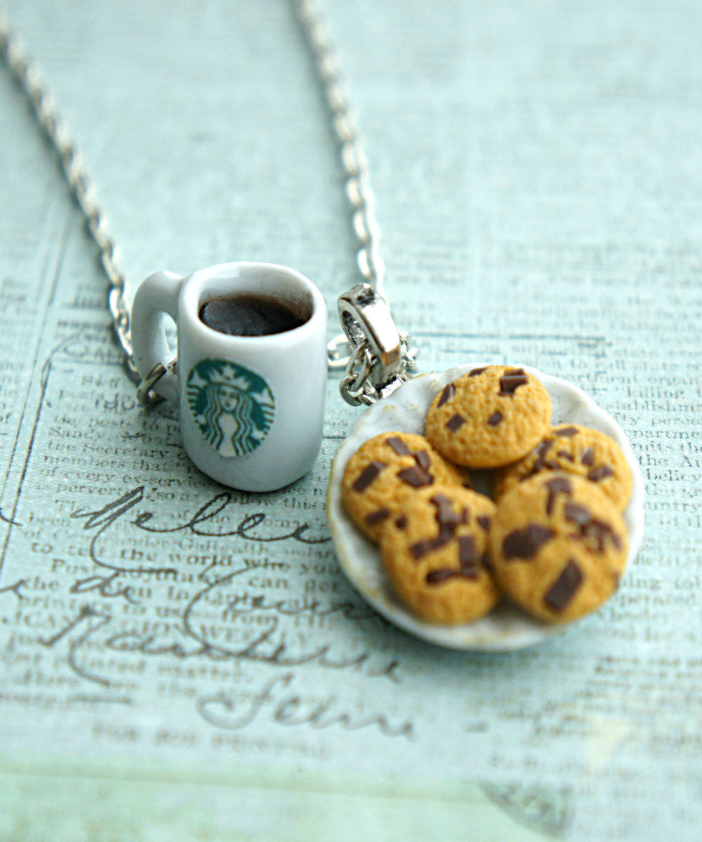 cookies and coffee necklace - Jillicious charms and accessories