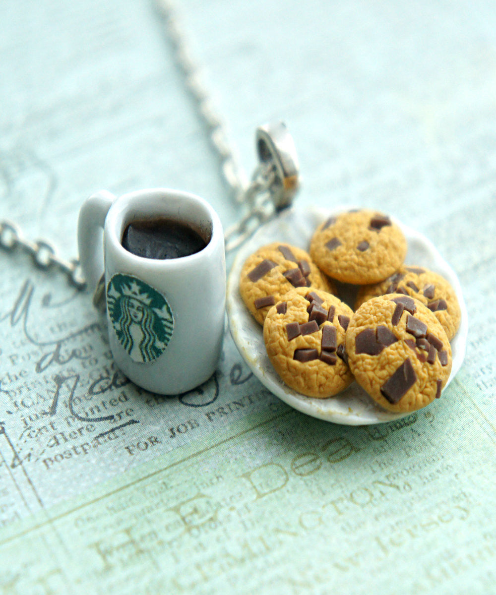 cookies and coffee necklace - Jillicious charms and accessories - 2