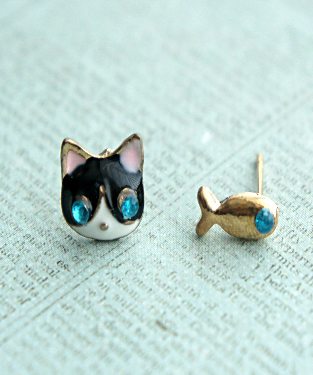 Kitty and Fish Earrings - Jillicious charms and accessories - 1