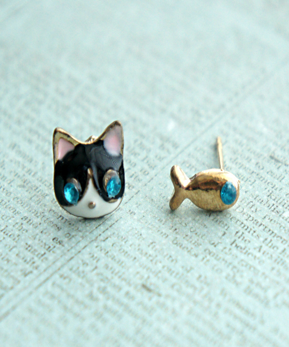Kitty and Fish Earrings - Jillicious charms and accessories - 3