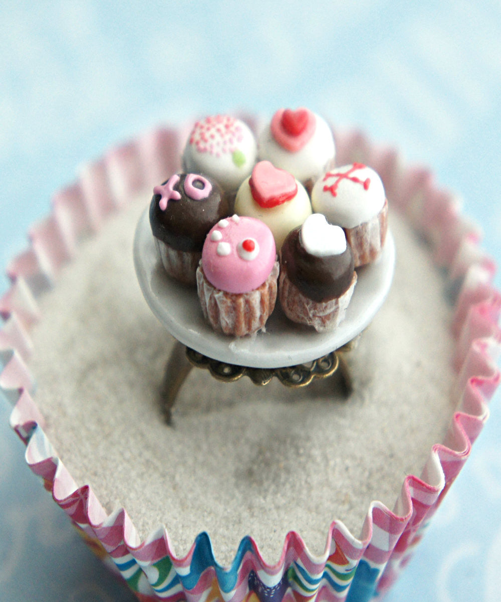 Valentine's Day Cupcakes Ring - Jillicious charms and accessories - 3