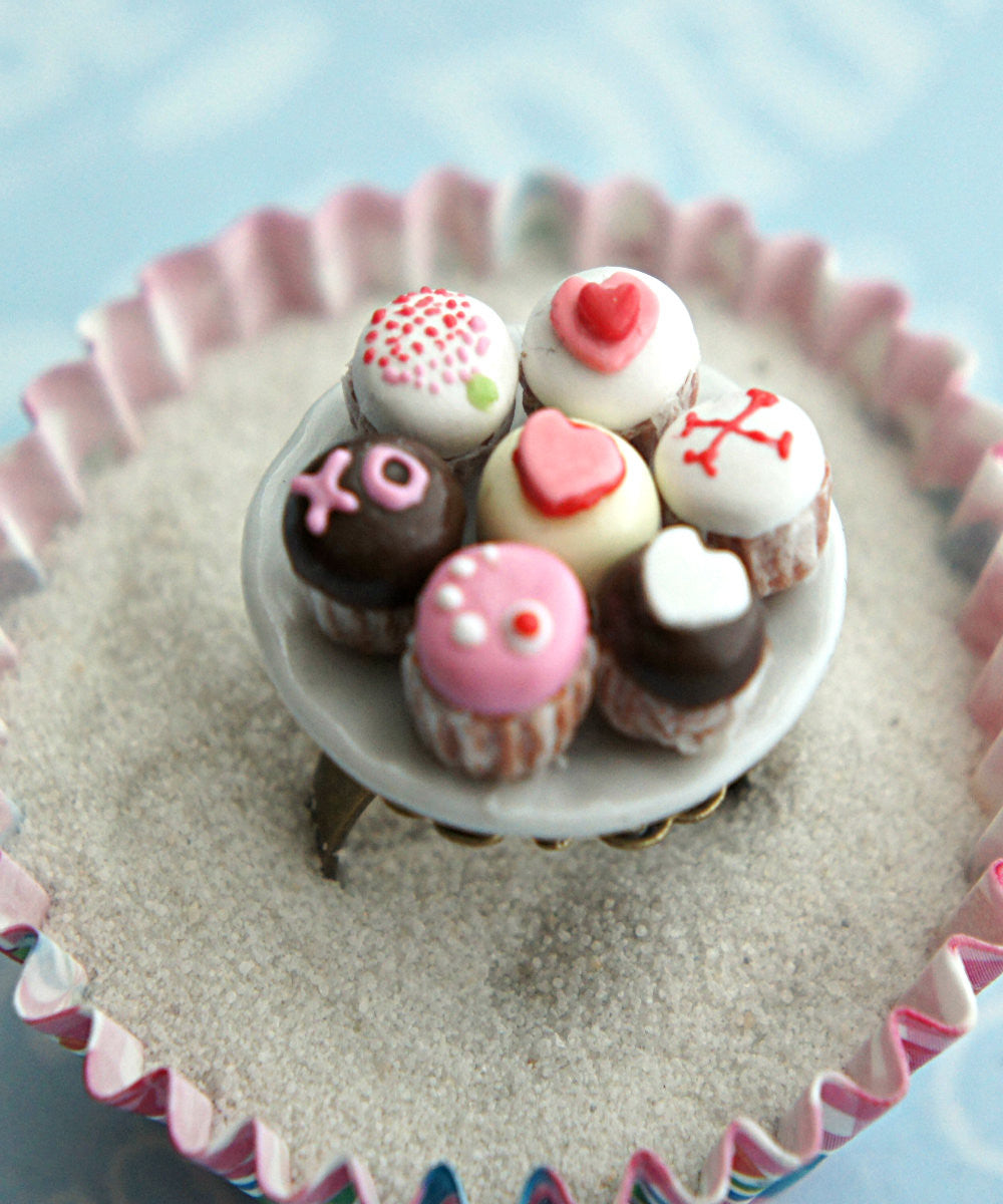 Valentine's Day Cupcakes Ring - Jillicious charms and accessories - 4