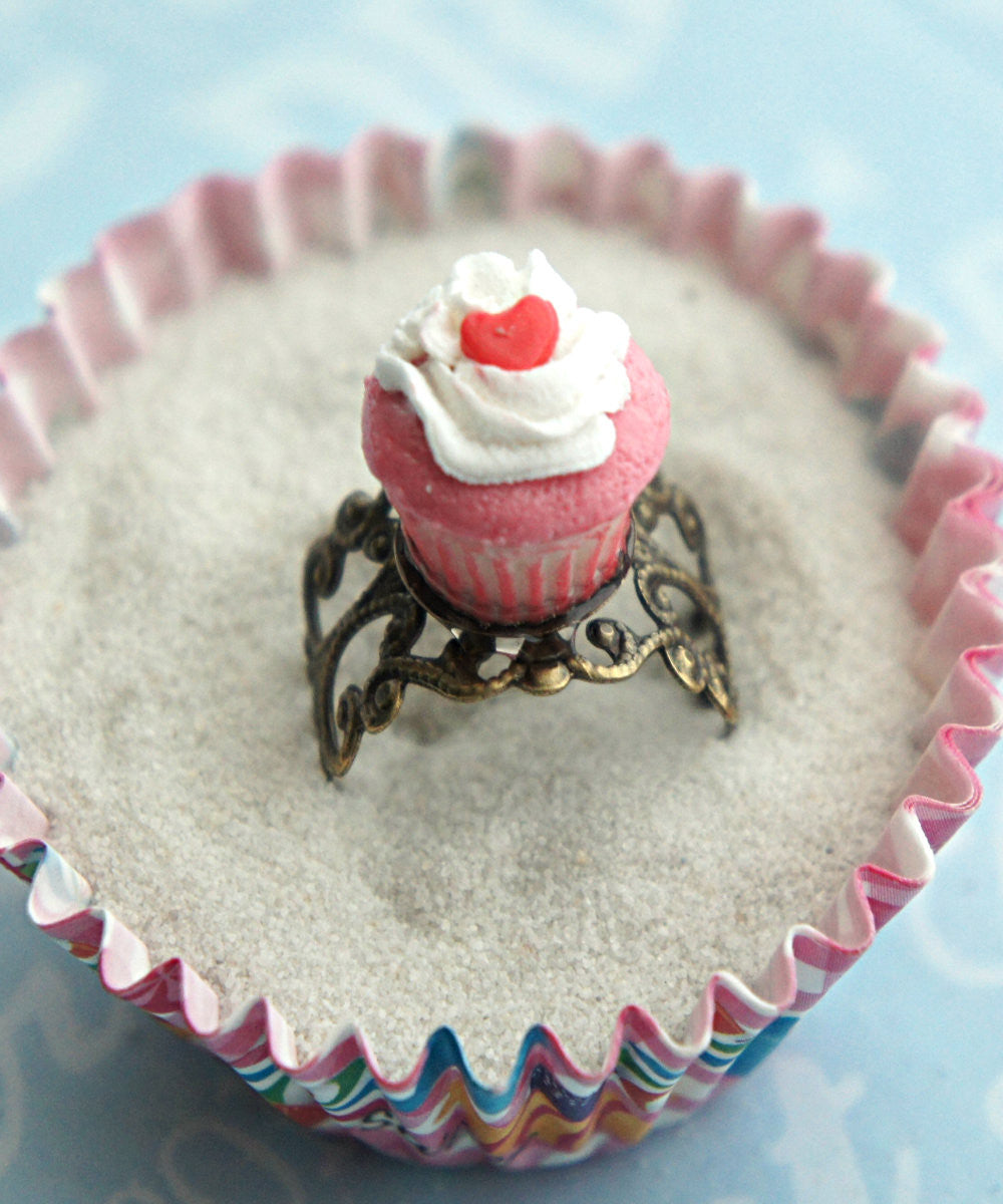 Red Velvet Cupcake Ring - Jillicious charms and accessories - 2