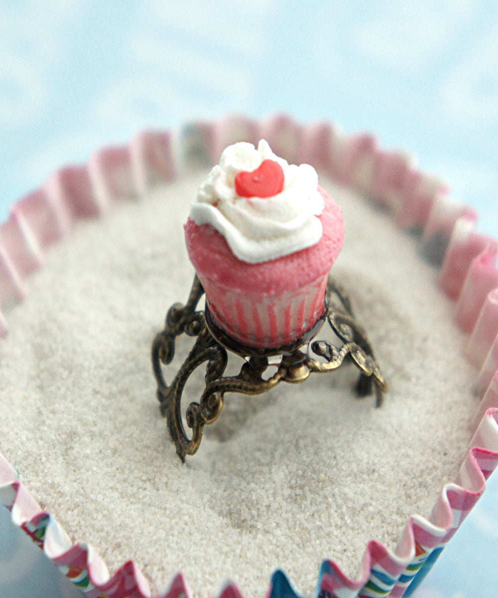 Red Velvet Cupcake Ring - Jillicious charms and accessories - 1