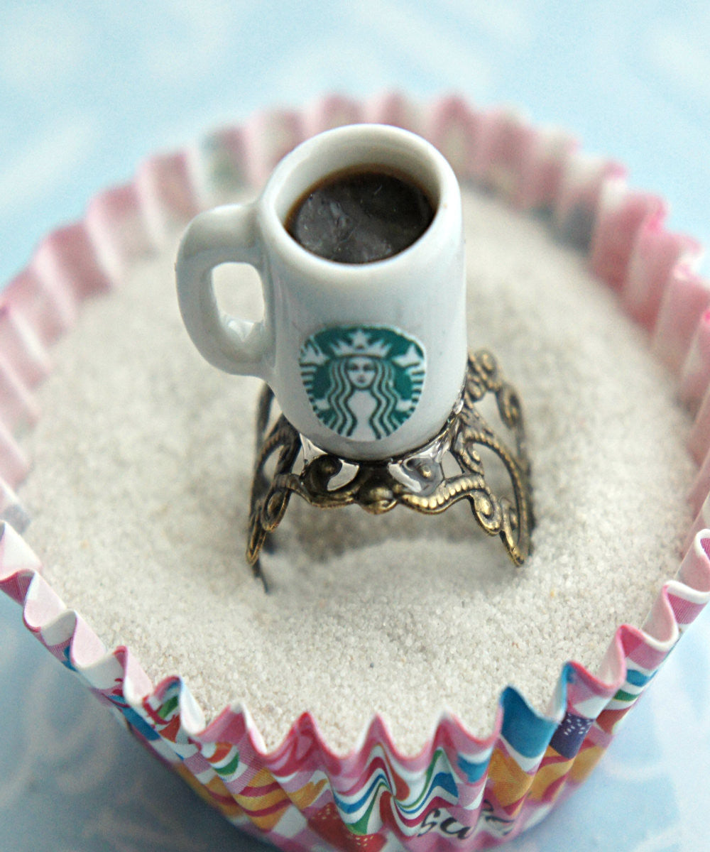 Starbucks Black Coffee Ring - Jillicious charms and accessories - 2