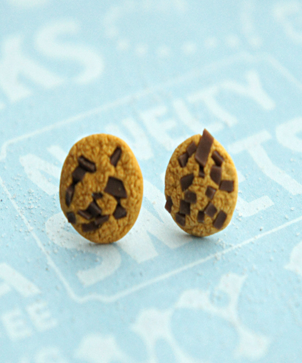 chocolate chip cookie stud earrings - Jillicious charms and accessories - 3
