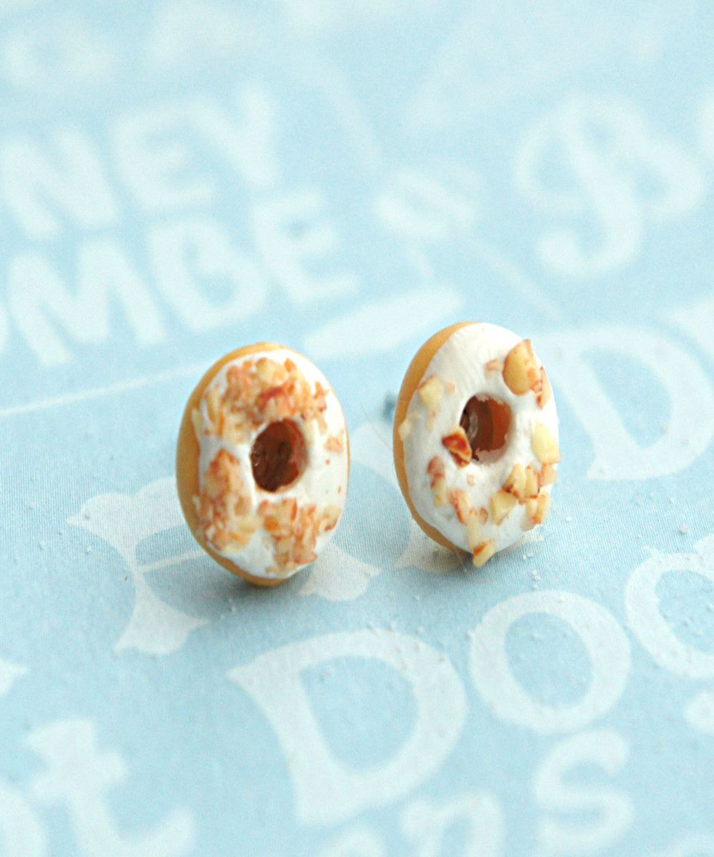 White Chocolate Donuts Stud Earrings - Jillicious charms and accessories - 2