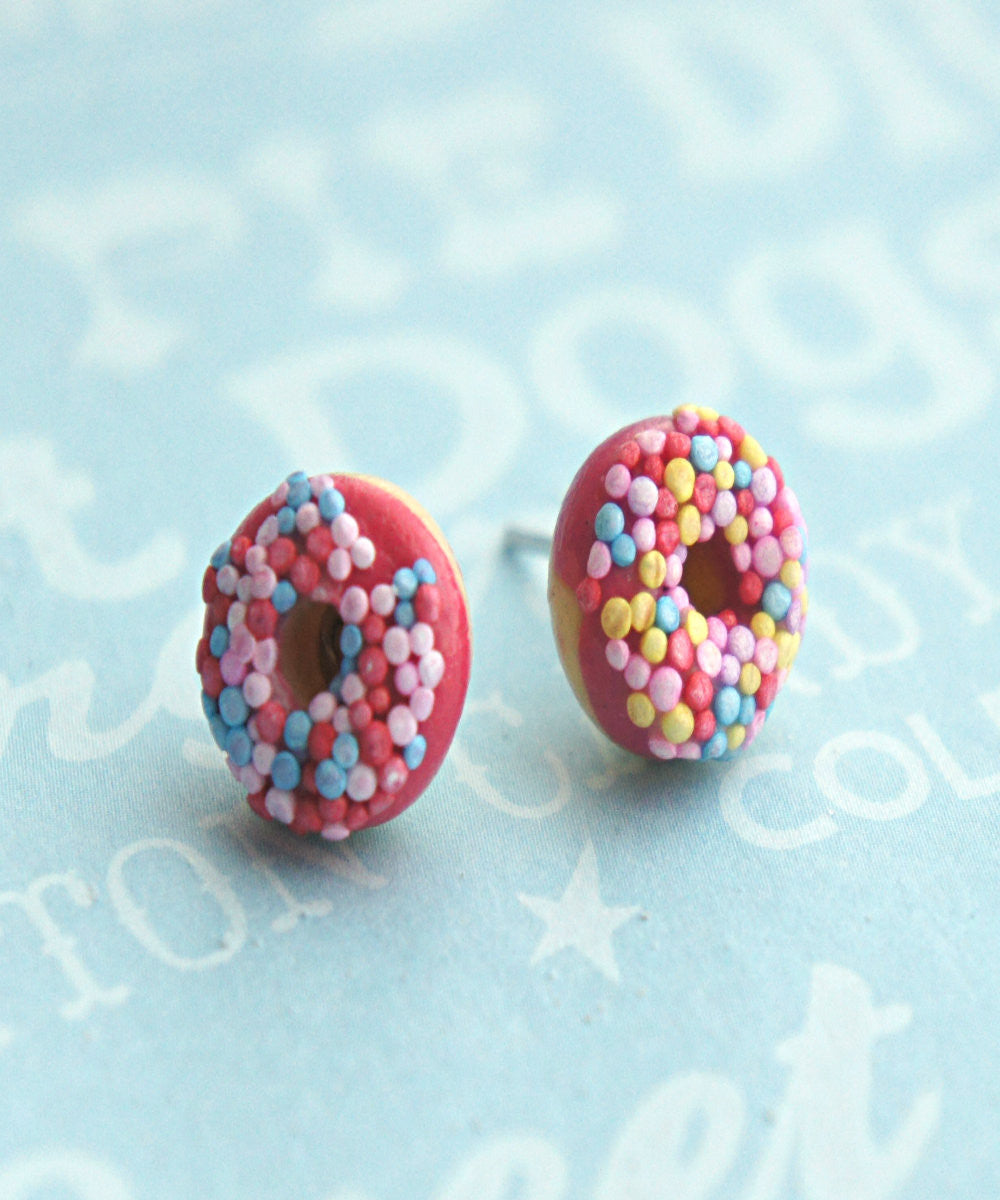 Candy Sprinkle Donut Earrings - Jillicious charms and accessories - 4
