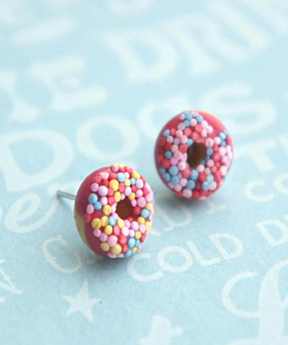 Candy Sprinkle Donut Earrings - Jillicious charms and accessories - 3