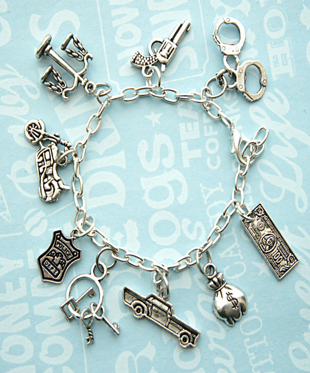 Police/Cop Wife Charm Bracelet - Jillicious charms and accessories - 1