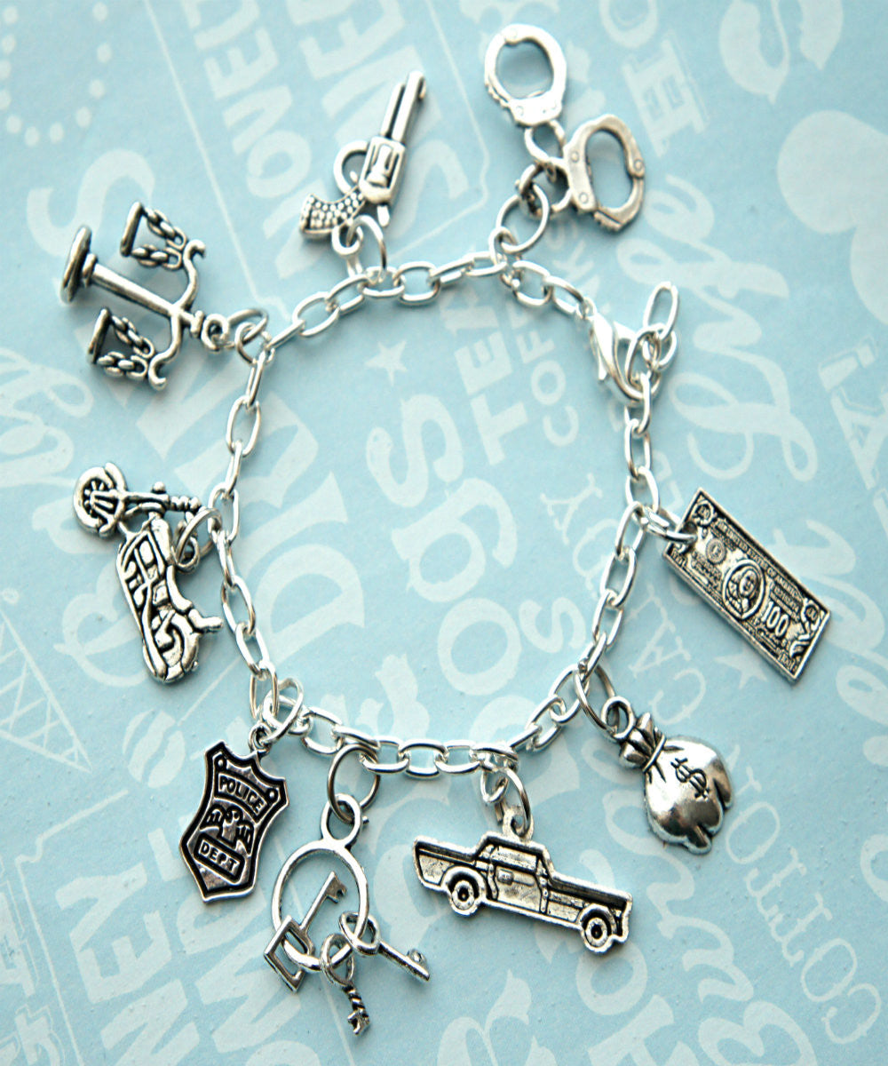 Police/Cop Wife Charm Bracelet - Jillicious charms and accessories - 3