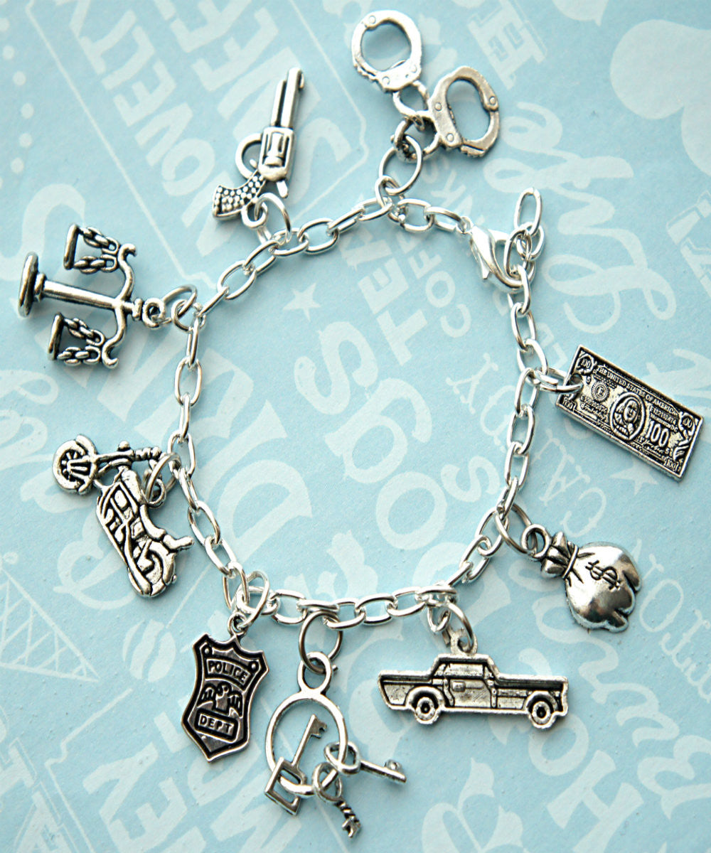 Police/Cop Wife Charm Bracelet - Jillicious charms and accessories - 2