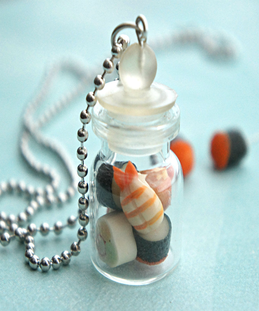 Sushis in a Jar Necklace - Jillicious charms and accessories - 1