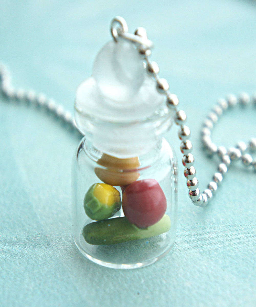 Mixed Vegetables in a Jar Necklace - Jillicious charms and accessories - 2