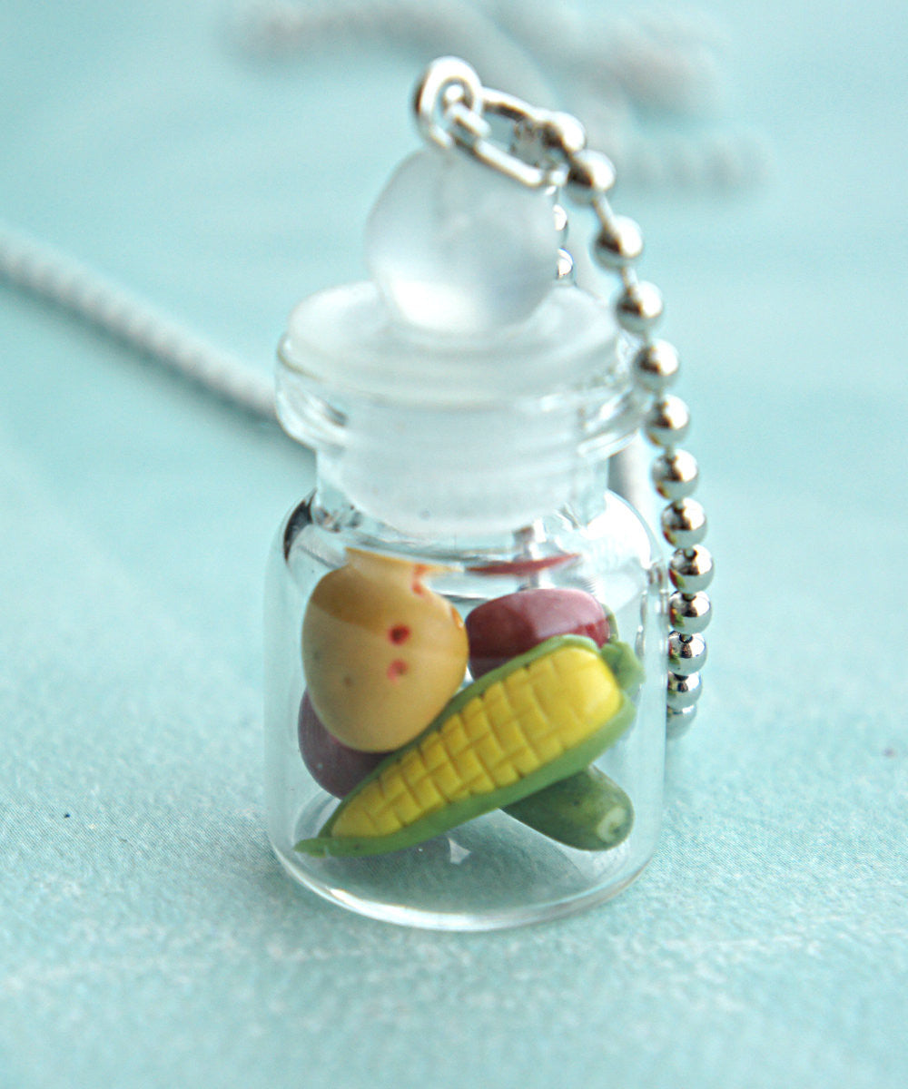 Mixed Vegetables in a Jar Necklace - Jillicious charms and accessories