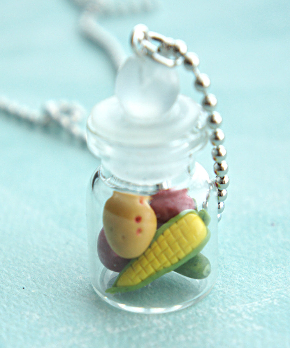 Mixed Vegetables in a Jar Necklace - Jillicious charms and accessories - 1