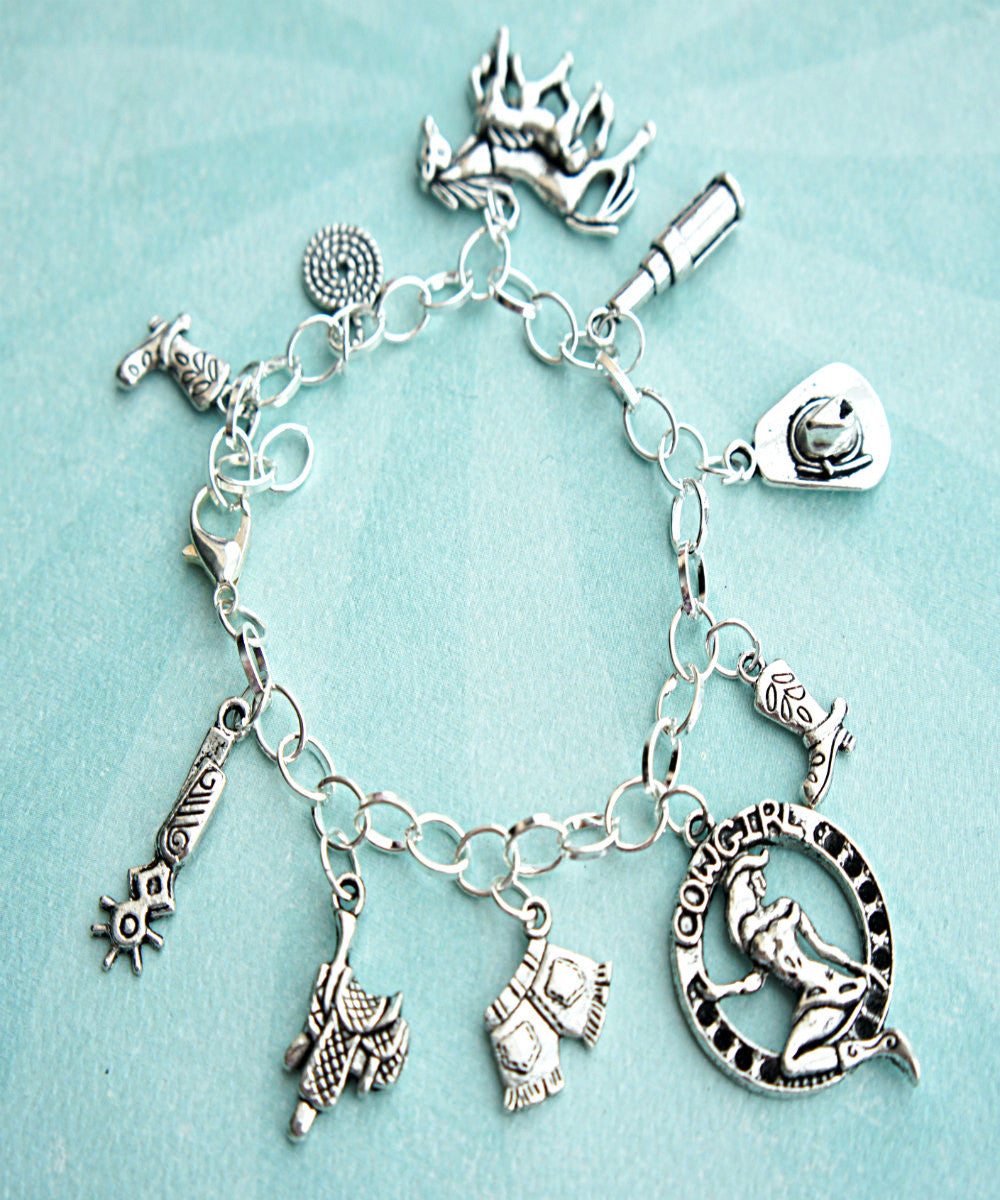 cowgirl charm bracelet - Jillicious charms and accessories