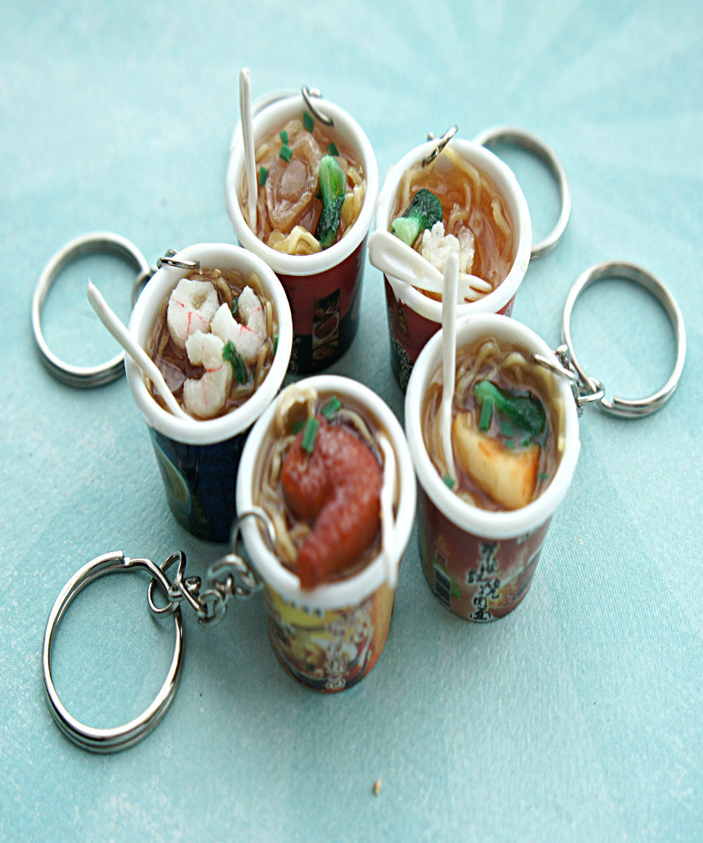 Instant Noodles Keychain - Jillicious charms and accessories
