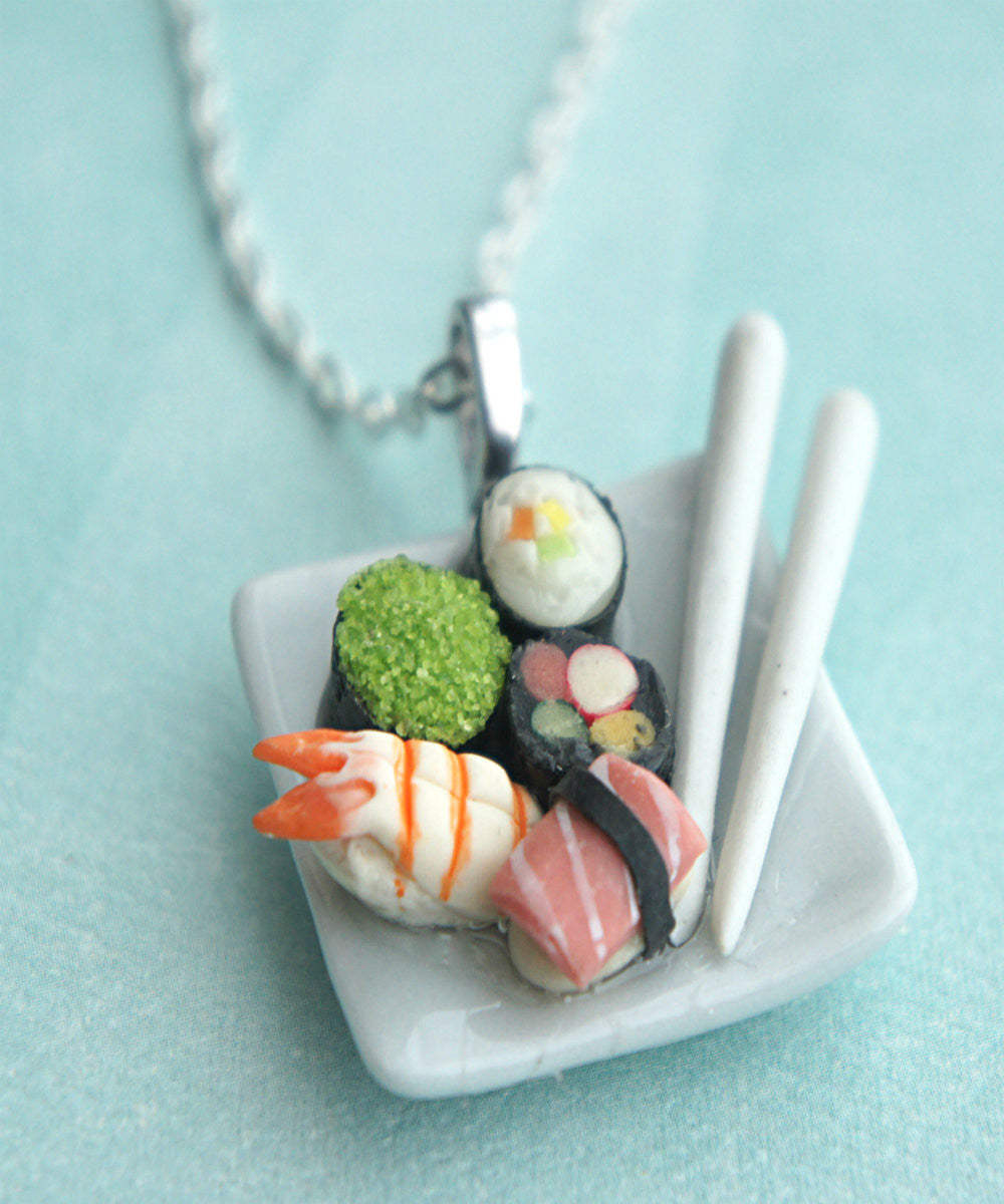 Sushi Plate Necklace - Jillicious charms and accessories - 1