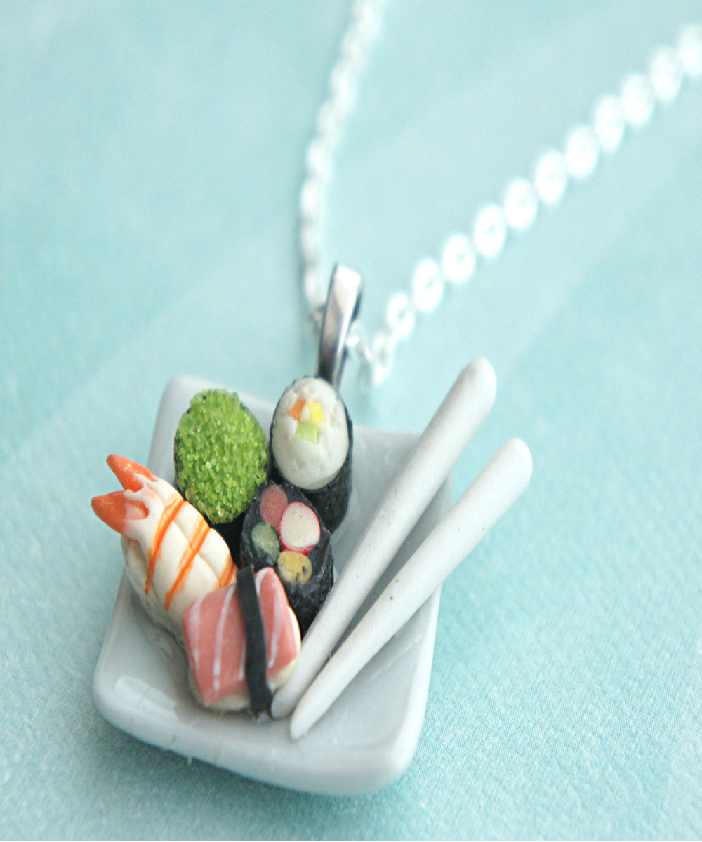 Sushi Plate Necklace - Jillicious charms and accessories - 3